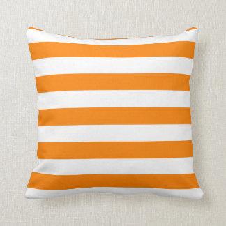Orange and White Strip Throw Pillow Throw Cushions