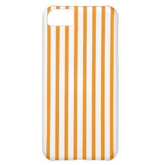 Orange and White Stripes Cover For iPhone 5C