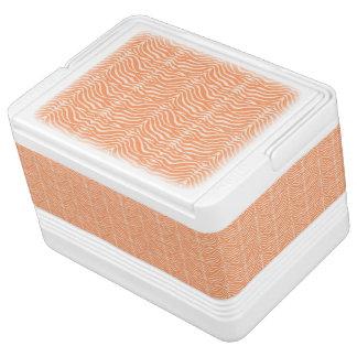 Orange and White Stripes Igloo Ice Chest
