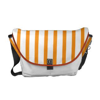 Orange and White Stripes Commuter Bag
