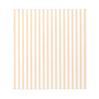 Orange and White Stripes Note Pad