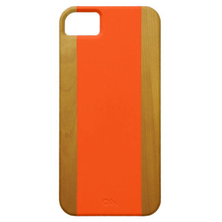 Orange and Wood Case For The iPhone 5