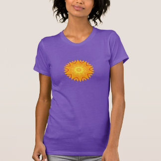 Orange and Yellow Abstract Sun T-Shirt