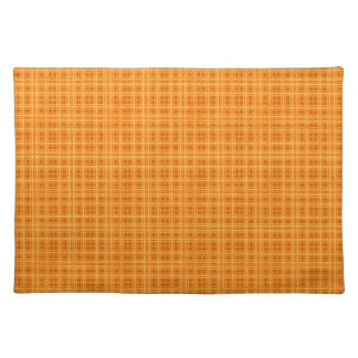 Orange and Yellow Checks Placemat