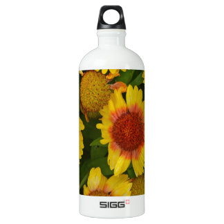Orange and yellow echinacea flower print SIGG traveller 1.0L water bottle