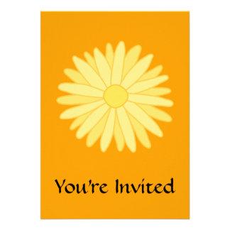 Orange and Yellow Floral Design. Invitations
