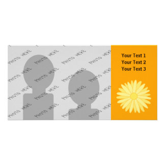 Orange and Yellow Floral Design Photo Card Template