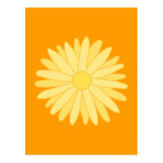 Orange and Yellow Floral Design Post Card