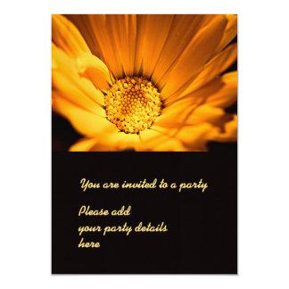 Orange and yellow gerbera daisy 13 cm x 18 cm invitation card