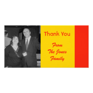 orange and yellow photo greeting card