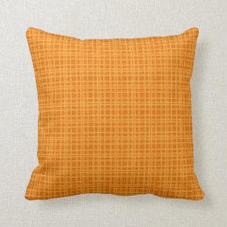 Orange and Yellow Plaid Cushion