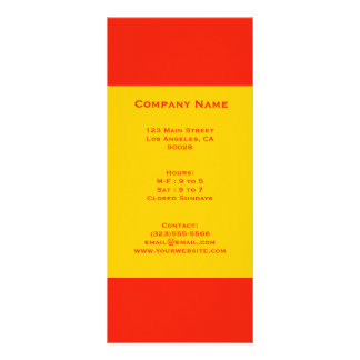 orange and yellow rack cards