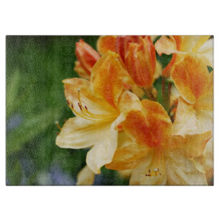 Orange and Yellow Rhododendron Flower Cutting Boards