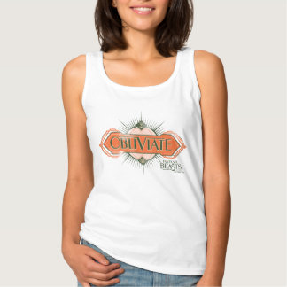 Orange Art Deco Obliviate Spell Graphic Singlet