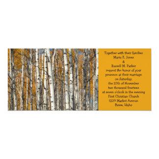 Orange Autumn Aspens Wedding 10 Cm X 24 Cm Invitation Card