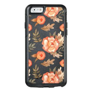 Orange Autumn hand drawn batik flower pattern OtterBox iPhone 6/6s Case