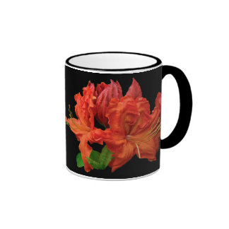 Orange Azalea Blossoms Ringer Mug
