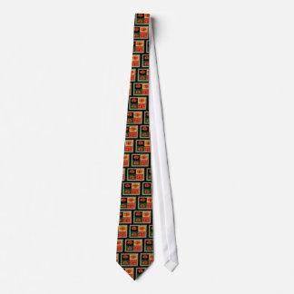 Orange Azaleas Tie