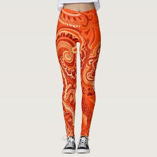 Orange Bandanna Custom Comfortable Retro Leggings