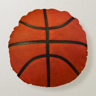 Orange Basketball Round Cushion