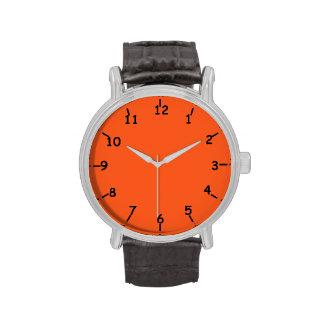 Orange Bay Black Wrist Watch