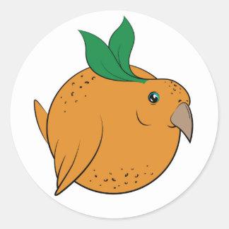 Orange Birble Round Sticker
