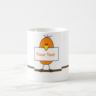 Orange bird basic white mug