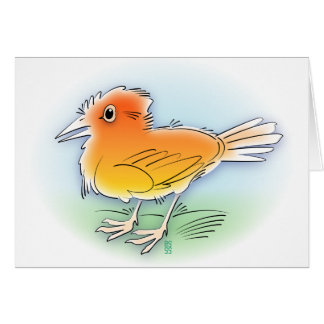 orange bird card