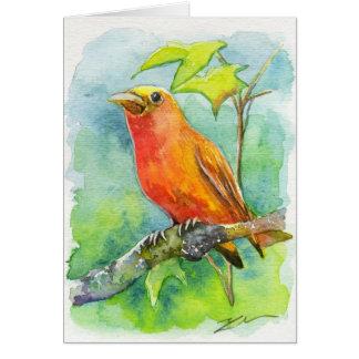 Orange Bird Greeting Cards