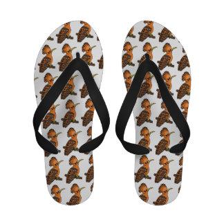 Orange bird cartoon sandals