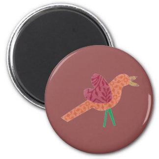 Orange Bird Magnet