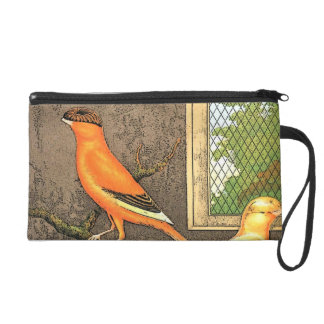 Orange Bird Wristlet Purses