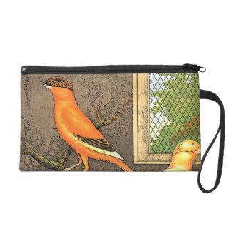 Orange Bird Wristlet Purses