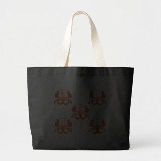 Orange birds tote bag