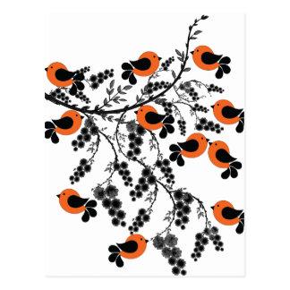 orange birds postcard