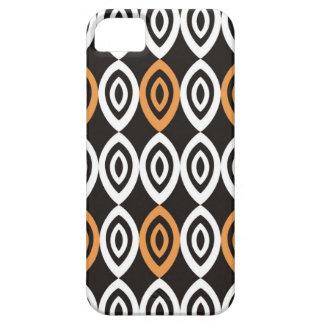 Orange Black And White Geometric Pattern iPhone 5 Case