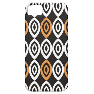 Orange Black And White Geometric Pattern iPhone 5 Cover