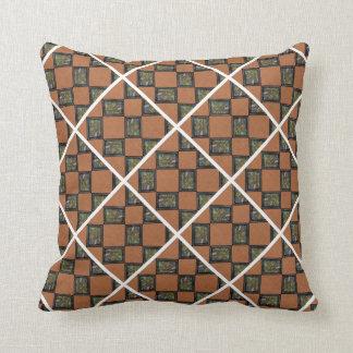 Orange Black And White pillow