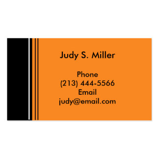 orange black business card