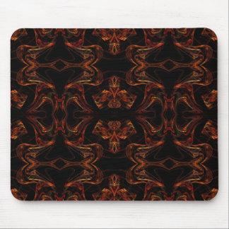 Orange & Black Fractal Mousepad