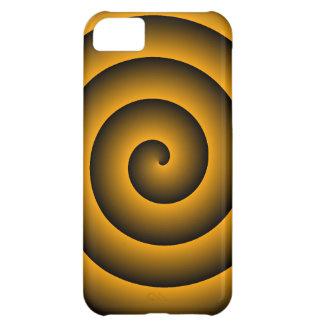 Orange & Black Hypnotic iPhone 5C Case