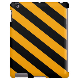 Orange & Black Stripes iPad Case
