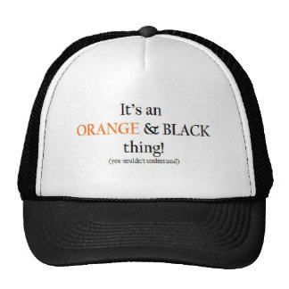 Orange Black Thing Hats