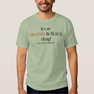 Orange & Black Thing Tshirt
