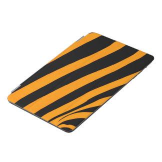 Orange Black Tiger Skin inspired Stripes Pattern iPad Mini Cover