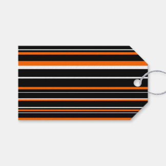 Orange, Black, White Barcode Stripe