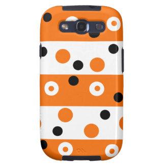 Orange Black & White Designer Samsung Galaxy Case Galaxy SIII Covers