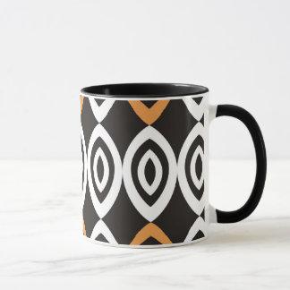 Orange Black White Modern Geometric Pattern