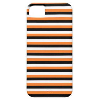 Orange, Black, White Stripes iPhone 5 Cases