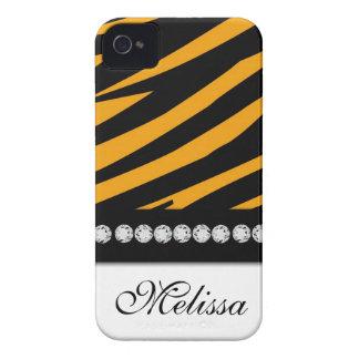 Orange Black White Zebra Print iPhone 4 Case-Mate Case-Mate iPhone 4 Case
